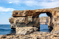 Azure Window i Malta Arkivfoto