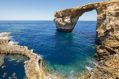 Azure Window - Insel von Gozo, Malta Stockbilder
