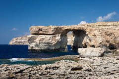 Azure Window on island Gozo Stock Photos