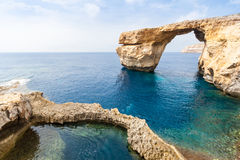 Azure Window in malta before collapse. Azure Window in Malta, collapsed in 2017 Stock Photography