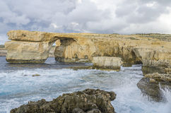 Azure Window, Malta. Azure Window in Dwejra, island Gozo, Malta Stock Photos