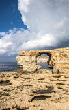 Azure window Malta on the island of Gozo.  Stock Photos