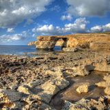 Azure Window Malta. Landscape malta rocks and sea Royalty Free Stock Photos