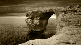 Azure Window, Malta. View looking out to sea form the Azure Window in Malta Royalty Free Stock Photos