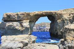Azure window. In Malta wonder of the world Royalty Free Stock Image