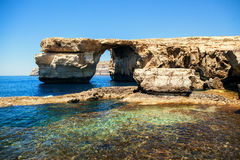 Azure Window on the Maltese. Island Gozo in Mediterranean sea Royalty Free Stock Images