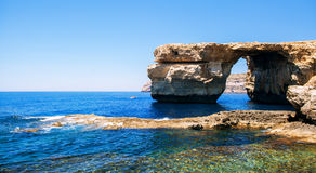 Azure Window on the Maltese. Island Gozo in Mediterranean sea Royalty Free Stock Image