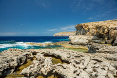 Azure window missing, Gozo, Malta. Coastline Royalty Free Stock Image