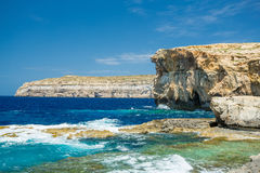 Azure window missing, Malta. Azure window missing, Gozo, Malta Stock Photos