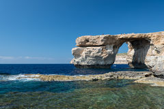 Azure Window - natural arch on Gozo island Royalty Free Stock Photography