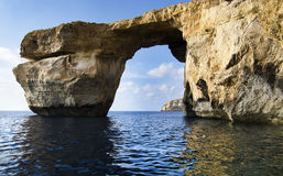Azure Window - Natural Rock Arch Royalty Free Stock Photos