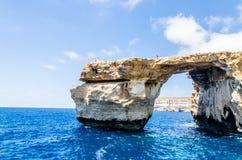 Azure Window nell'isola di Gozo, Malta Fotografia Stock Libera da Diritti