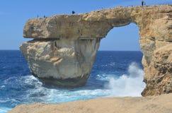 Azure Window op Gozo-Eiland Stock Fotografie