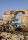 Azure Window på ön av Gozo Arkivbild
