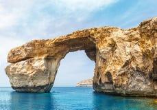 Azure Window, steenboog van Gozo, Malta royalty-vrije stock afbeelding