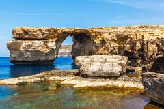 Azure Window, stone arch of Gozo, Malta Royalty Free Stock Photo