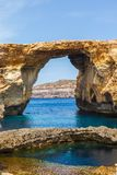 Azure Window, stone arch of Gozo, Malta Stock Photos
