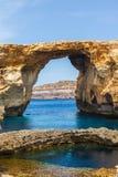 Azure Window, stone arch of Gozo, Malta Stock Photos