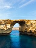 Azure Window, stone arch of Gozo, Malta Stock Photography