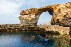Azure Window, stone arch of Gozo, Malta Royalty Free Stock Image