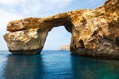 Azure Window, stone arch of Gozo, Malta Royalty Free Stock Images
