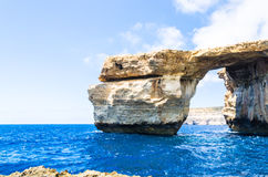 Azure Window sulla baia di Dwejra in Gozo, Malta Fotografie Stock Libere da Diritti