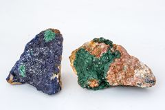 Azurite minerals. Azurite is a copper carbonate mineral found in USA stock images