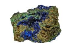 Azurite & Green Malachite stock image