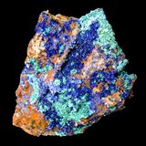 Azurite. Isolated in black background royalty free stock images