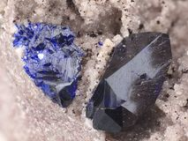 Azurite and malachite Stock Image