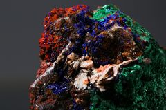 Azurite malachite found in the Morocco on white background. Azurite malachite found in Morocco on white background stock images