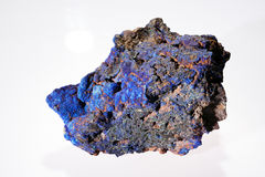 Azurite malachite  mineral Royalty Free Stock Photos