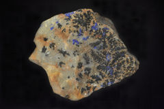 Azurite. Mineral composed by carbonate of copper Royalty Free Stock Photos