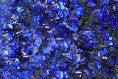 Azurite mineral texture. As very nice natural background royalty free stock image