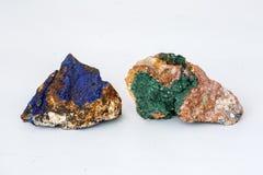 Azurite minerals. Azurite is a copper carbonate mineral found in USA stock image