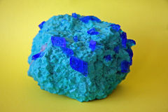 Azurite minérale Image stock