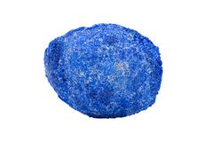 Azurite Partial Nodule from Russia isolated on white. Background stock photography