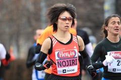 Azusa Nojiri - Prague half marathon 2013 Stock Images