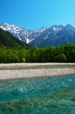 Azusagawa River and Peaks of the Hotakas Royalty Free Stock Photo