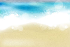 Azuurblauw strand vector illustratie