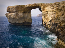 Azuurblauw Venster, Eiland Gozo Stock Fotografie