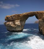 Azuurblauw Venster, Eiland Gozo Royalty-vrije Stock Afbeelding