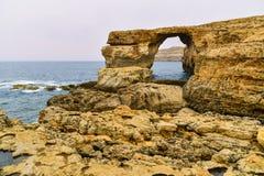 Azuurblauw Venster, Gozo Eiland, Malta royalty-vrije stock afbeeldingen