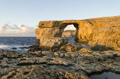 Azuurblauw Venster, Malta Royalty-vrije Stock Foto