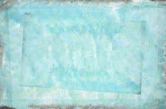 Azuurblauwe geschilderde samenvatting Stock Afbeeldingen