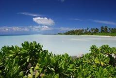 Azuurblauwe lagune. Royalty-vrije Stock Foto's