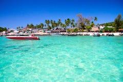 Azuurblauwe lagune in Thailand Stock Afbeelding