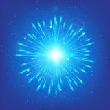 Azuurblauwe schijnwerpervector Stock Afbeelding