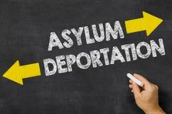 Azyl lub deportacja obrazy royalty free