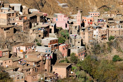 Azzaden Valley Trek. Village in the Atlas Mountains - Morocco Royalty Free Stock Images